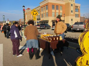 Ohio Honey Man helping customers at West Chester Farmers Market